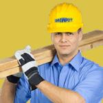 Drewpłyt pracownik z deskami